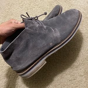 Men's grey suede shoes